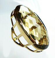 topmk-schmuck Ring, 925er/plt. RAUCHQUARZ, 21 Gramm - Ring! Gr.: 56 (17,8 mm Ø)