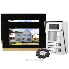 HOMSECUR 2-Unit Communal Entry Video Intercom with 7'' Monitor & 10 RFID Keyford