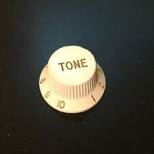 Fender Squire Replacement Tone Knob 1-10 White Gold Numbering And Lettering