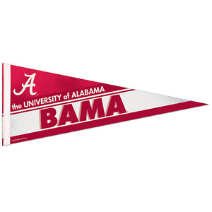 "ALABAMA CRIMSON TIDE ""BAMA"" ROLL UP PREMIUM FELT PENNANT 12""x30"" NEW WINCRAFT"