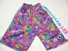 Nwt Flow Society Youth Small Purple Hercules Lacrosse Shorts Pa39Mp341 New