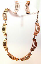 LOVELY SIGNED RENOIR COPPER NECKLACE & EARRING SET