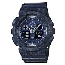 Casio G-Shock * GA100CG-2A Anadigi Cracked Pattern Blue Resin Watch COD PayPal