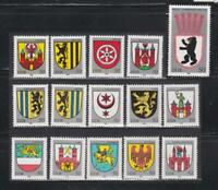 DDR303 - EAST GERMANY DDR 1983-1985  TOWNS COAT OF ARMS  MNH