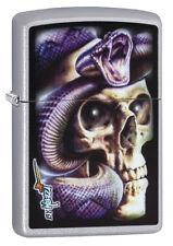 Zippo Lighter ● Snake Skull Schlange By Mazzi ● 60003538 ● Neu New OVP ● A148