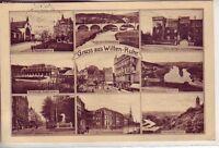 uralte AK Gruss aus Witten-Ruhr Mehrbild-AK 1927 Bahnhof Hauptstrasse