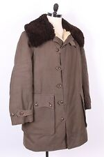 VTG WWII M-1909 SWEDISH SHEEPSKIN SHEARLING COLD WEATHER PARKA JACKET XL