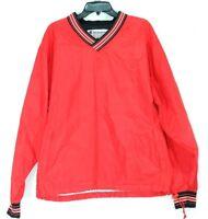Champion Vintage Men's Red Pullover Windbreaker Jacket - Size Medium