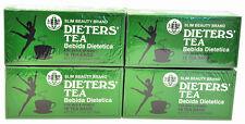 4 BOXES OF Dieters' Tea Bebida Dietetica Slim Beauty Brand Dieters 72 Tea Bags