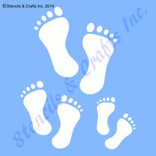 FOOTPRINTS STENCIL FOOTPRINT FOOT FEET STENCILS TEMPLATE PAINT ART CRAFT NEW