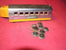 Lionel O Scale 1935 Orange & Chrome Silver Streak Center Car, #1817 (E)2