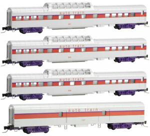 Micro-Trains MTL Z-Scale Auto Train Passenger Car Set - Runner 4-Pack