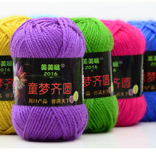 New 50g Double Knitting Crochet Cashmere Wool Soft Baby Yarn skin Gift Sweater