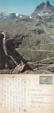 1966 GIANTS ROAD & STIGFOSSEN FALLS NORWAY COLOUR POSTCARD
