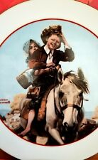 Plate Norman Rockwell Young Love Series 1982 Collectible Japan Mint + free gift