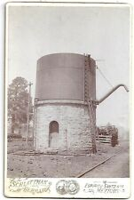 Cabinet Photo - Cuernavaca & Pacific RR Water Tower near Tres Maria Mexico 1890s