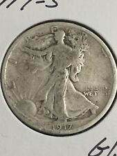 1917-S Walking Liberty Half Dollar in about G/VG Condition