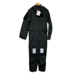 BLACK RAF AIRCREW FLIGHT COVERALL OVERALL SUIT - 185/96/82cm - British NEW