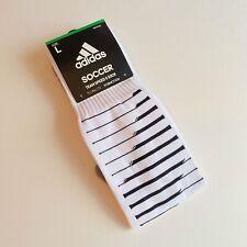New adidas Team Speed 2 Soccer Socks Men's Black/White Size L Read!