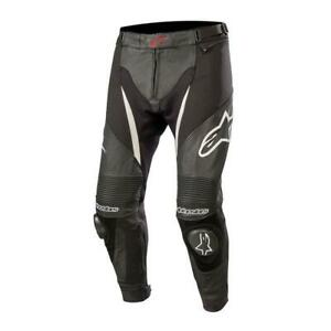 NEW Alpinestars SPX Perforated Leather Pants - Black/White from Moto Heaven