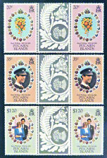 1981 Pitcairn Islands Decimal Stamps - Royal Wedding-Charles & Diana-Set 4x2 MNH