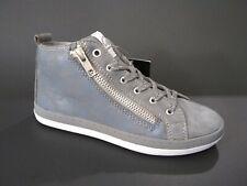 New $120 Vado Kids Girls Shoes Sneaker Narrow Gray Leather Sz 1 Usa/32 Euro