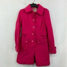 Tulle Womens Peacoat Pink Buttons Pockets Collar Lined Wool Blend Jacket M
