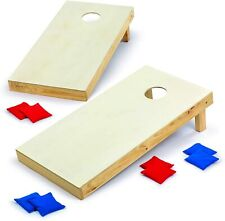 Backyard Champs Corn Hole Outdoor Game 2 Regulation Wood Boards / 8 Bean Bags