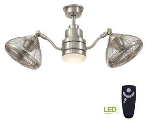 Pendersen 42 in. LED Indoor/Outdoor Brushed Nickel Ceiling Fan  with Light Kit