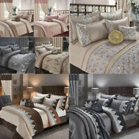Luxury Embroidered Duvet Cover Sets Pillowcases Bedspread Cushion New Bedding