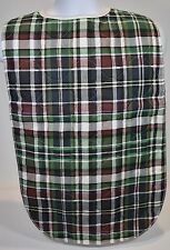 2 New Adult Bibs Clothing Protector Blue Plaid MultiColor Big Elderly Eating