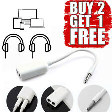 3.5mm Male to Twin Female Splitter Y Cable Lead Stereo AUX Headphone Earphone WH
