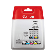 5 Genuine Canon Multipack PG570 + CL571 BBK +BK C M Y original ink cartridges