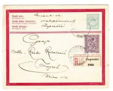 Hungary REGISTERED ENVELOPE-HG:C1-UPRATED-DUAL FRANKING-JUGOSLAVIA