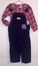 Oshkosh B'Gosh ~ Baby Girl ~Corduroy Coverall Outfit ~Sz 24months* NWOT