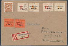 Lokalausgabe Spremberg Aufbau Einschreiben 1946 MiF Kontrollrat geprüft (S13941)
