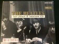 """THE BEATLES-""""Rare Photos & Interview"""" CD, Vol. 1 W/Book, Limited Edition, Import"""