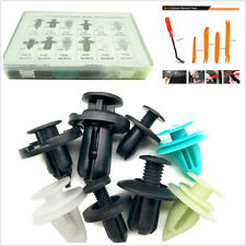 410 Pcs Plastic Car Door Panel Liner Bumper Fenders Fastener Clips+30 Pcs Tools