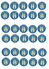 COLCHESTER FC EDIBLE RICE WAFER PAPER CUP CAKE TOPPER X30