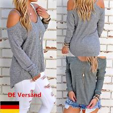 DE Damen Träger Top Schulterfrei Blusen Damenmode Oberteil Trägertops Mode Shirt