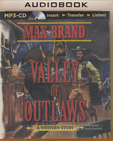 Max Brand Valley Of Outlaws MP3 CD Audio Book Unabridged Western Cowboy FASTPOST