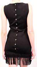 AZZARO PARIS Grandiose Black Fringed Cocktail Dress Sz. US 6 MSRP $1900 Worn 1x!