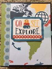 Handmade Scrapbook Photo Album Travelers Adventure Album