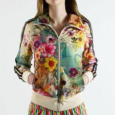 adidas jacket women. floral new adidas women firebird farm pale yellow flower black track top jacket adidas jacket women