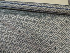 Heavyweight Upholstery Fabric Material Blue Green 4 7/8 yards +a very lg remnant