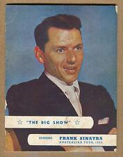 """Frank Sinatra - """"The Big Show Australian Tour Program"""" Rare! 1955 (Grade G/VG)"""