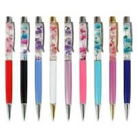 Luxury Metal Dried Flower Ballpoint Sign Pen Gel Pen Office Student's Stationery