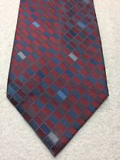 CLAIBORNE MENS TIE RED GRAY AND BLUE 4 X 58