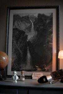 The FALLS OF REICHENBACH Poster - Granada Sherlock Holmes Replica - Jeremy Brett