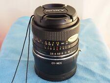 for SONY NEX E/FE Mount YASHICA ML Manual Focus 28mm f2.8 PRIME LENS!